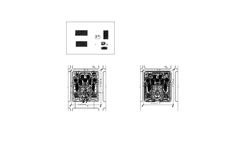 政府大院规划设计cad图,含设计说明图片1