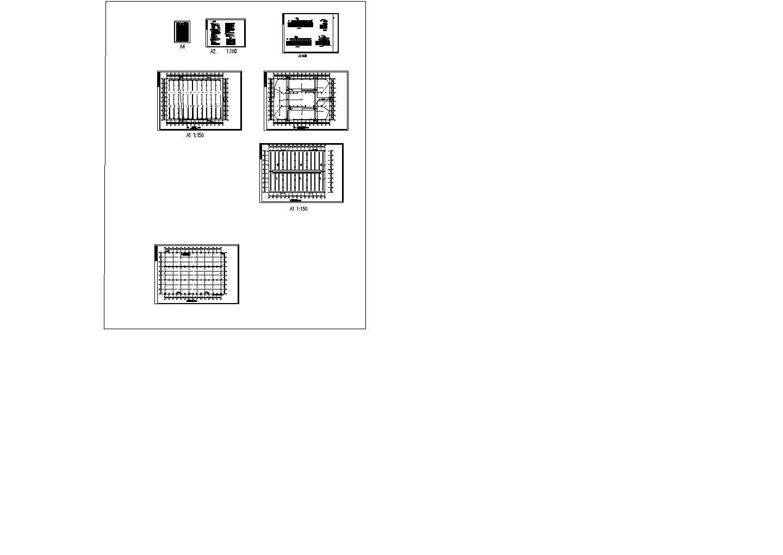 某单层5278�O厂房电气施工设计图图片1