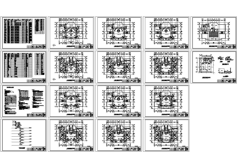 某办公楼空调设计方案CAD图图片1