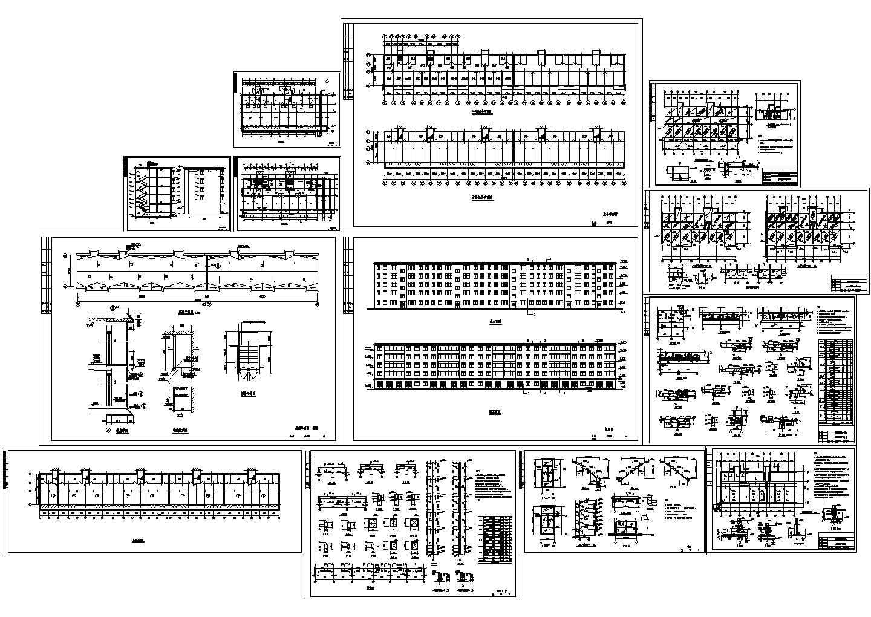 5层砖混住宅楼土建建筑结构施工图图片1