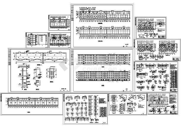5层砖混住宅楼土建建筑结构施工图-图一