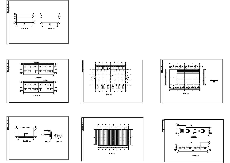 某单层工业厂房建筑设计cad施工图纸(标注详细)图片1