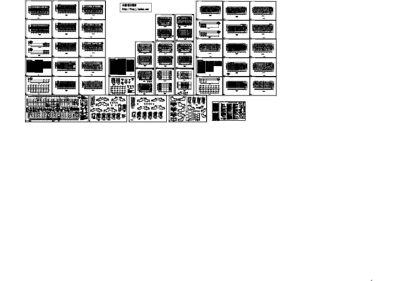 6框架综合性办公楼结构施工图,含设计说明图片1