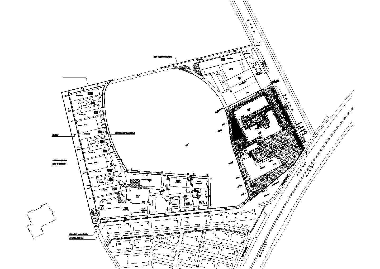 闽云县高秋社会福利站室外工程--绿化植物CAD图纸图片1