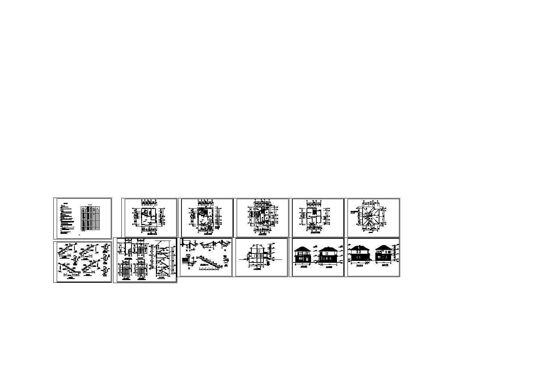3层小型别墅住宅楼装修设计建施图,含地下一层图片1