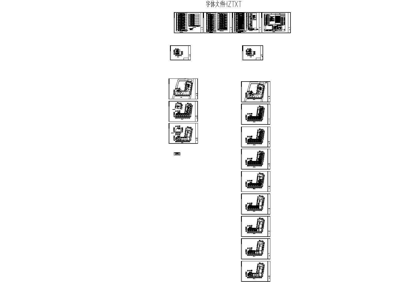 某十八层酒店式公寓楼弱电cad施工图图片1