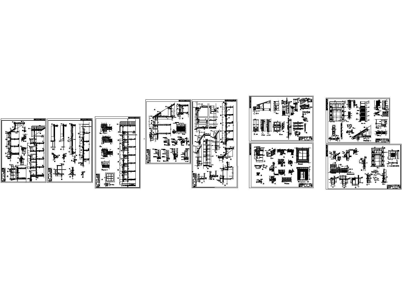 一套详细的别墅施工图及大样图,共9张图片1