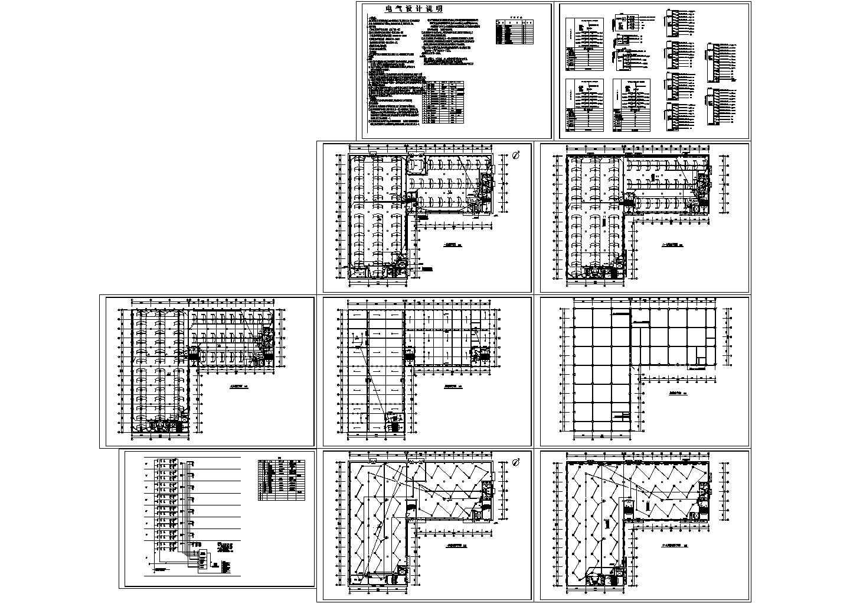 某8层17396�O厂房电气施工设计图图片1