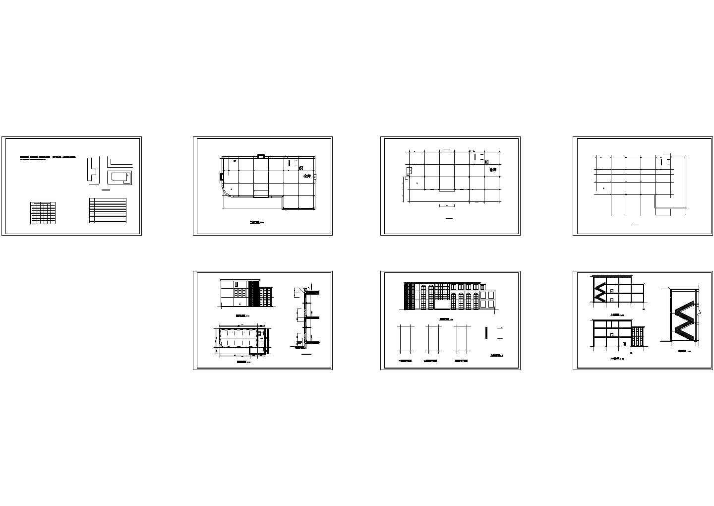 3层百货商场全套设计施工cad图,共七张图片1