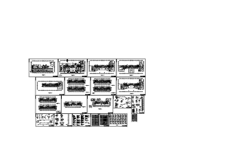 政府财税办公楼空调设计施工CAD图纸图片1