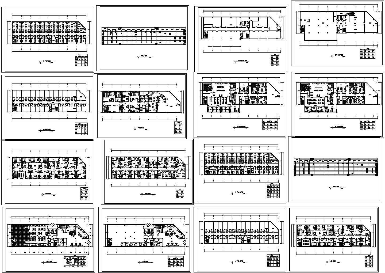阿里郎宾馆方案CAD平面图图片1