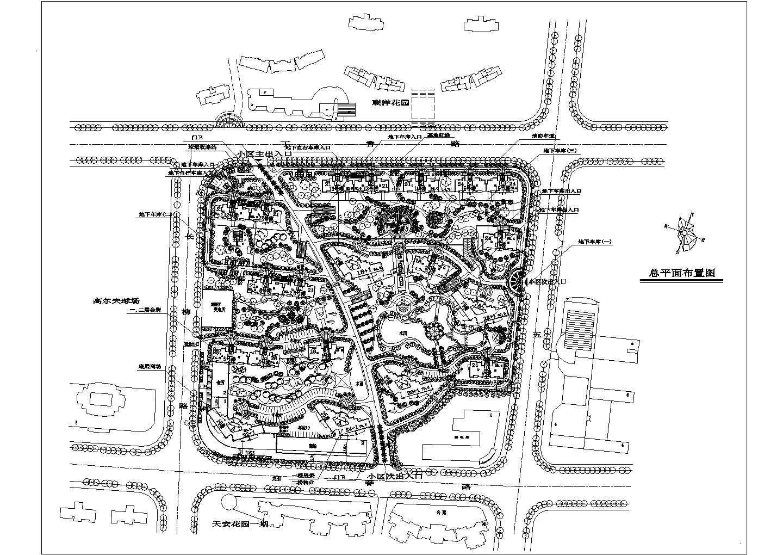 上海某花园规划总平面布置图图片1