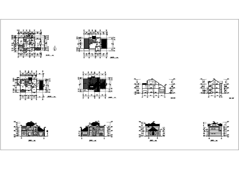 深圳小型别墅住宅楼装修设计建施cad图纸图片1