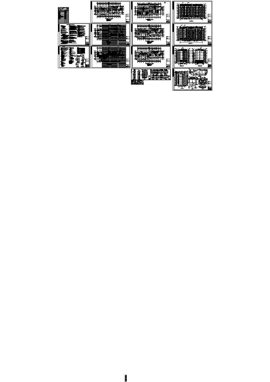 七层阁楼二单元4107.7平米对称户型含节点大样图图片1