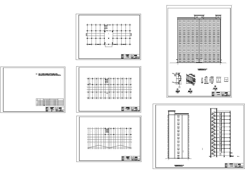 8283平米12层酒店式公寓毕业设计cad图,共两张图片1