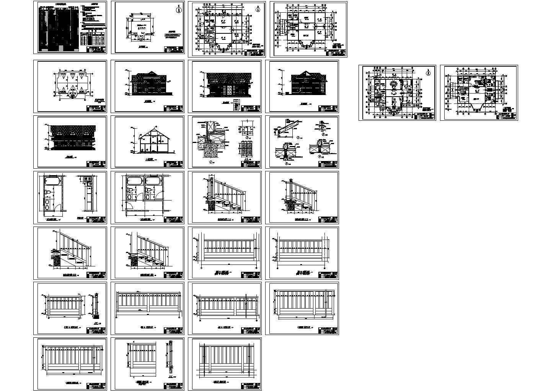 305.96平方米实木结构北美式别墅建筑图(含设计说明)图片1