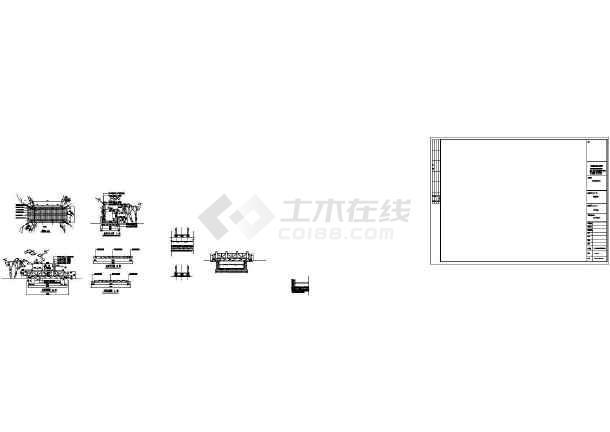 园林木桥CAD施工图-图一