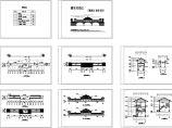 廊桥单层古建筑初步设计图(长83米 宽7.8米)图片1