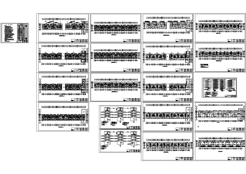 五层住宅楼电气设计方案CAD图纸图片1