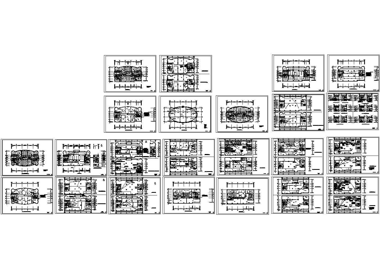 某二十五层办公楼电气全套设计图图片1