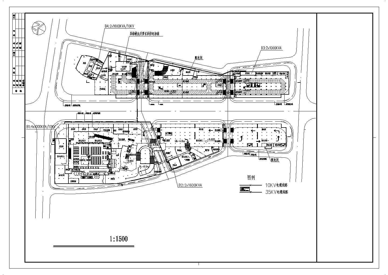 某置地广场电力规划图图片1