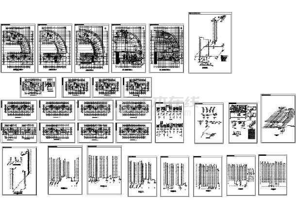 高层欧式住宅楼给排水设计施工图-图一