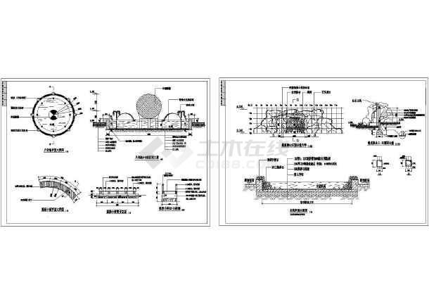 景观施工图分类细部大全—泳池浴场cad图-图一
