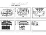 三层办公楼建筑施工cad图,共六张图片1