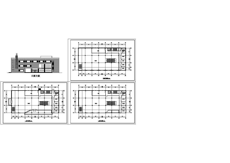某商场设计方案cad图,共四张图片1