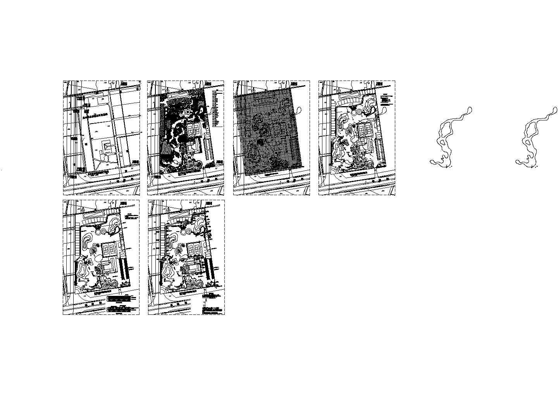 水乡农业生态园平面规划设计cad图,共6张图片1