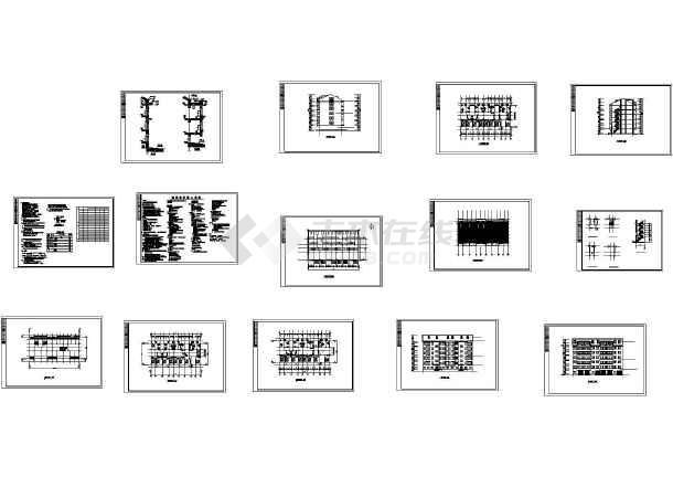 2546平方米五层住宅楼毕业设计图-图一