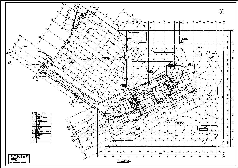 地下车库设计CAD消防平面图图片1