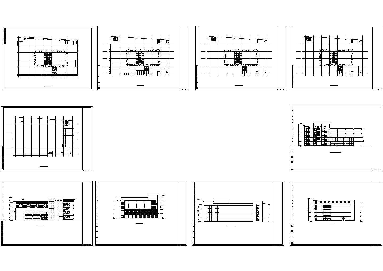 某商场设计施工设计cad图,含施工说明图片1