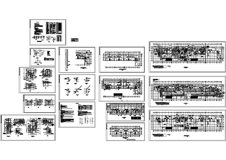 地下车库通风和人防施工设计CAD图纸(含设计施工说明,设备材料表)图片1