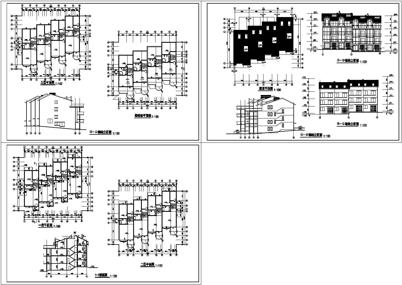三层别墅施工图纸图片1