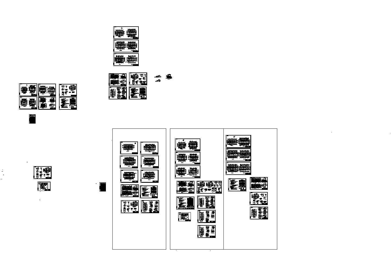 一栋别墅洋房住宅楼装修设计建施cad图纸图片1