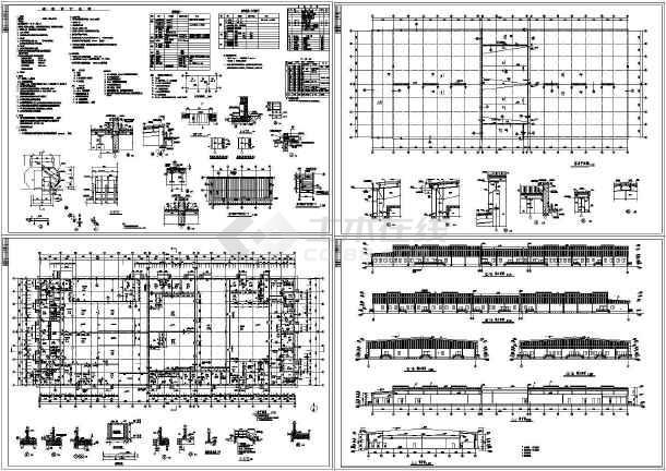 某5118平方米单层排架砖混结构冷熟食加工车间设计cad建筑施工图(含设计说明)-图一