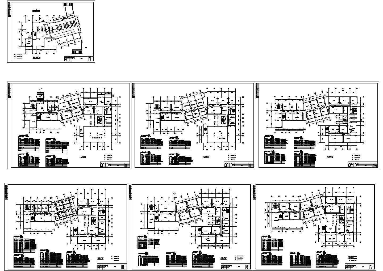 某办公楼建筑设计方案CAD图图片1