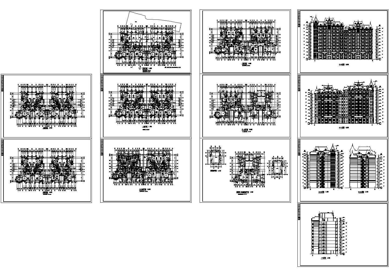 某小高层住宅楼图纸图片1