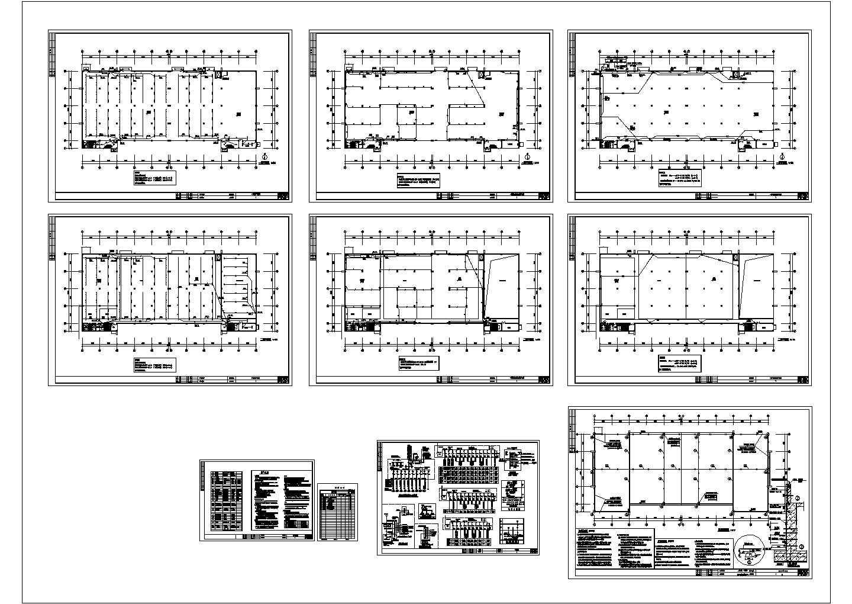 2层10米工业厂房电气施工图设计图片1