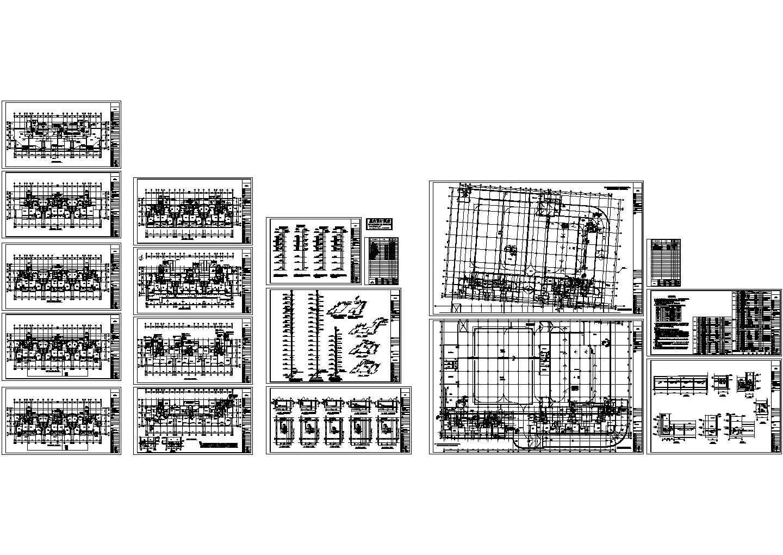 商住楼及车库采暖通风设计施工CAD图图片1