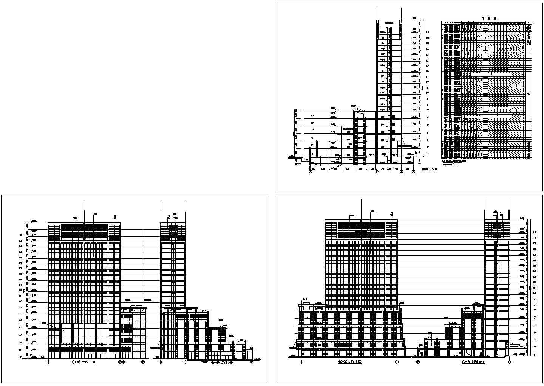 某地功能复杂的综合商业办公楼施工图图片1