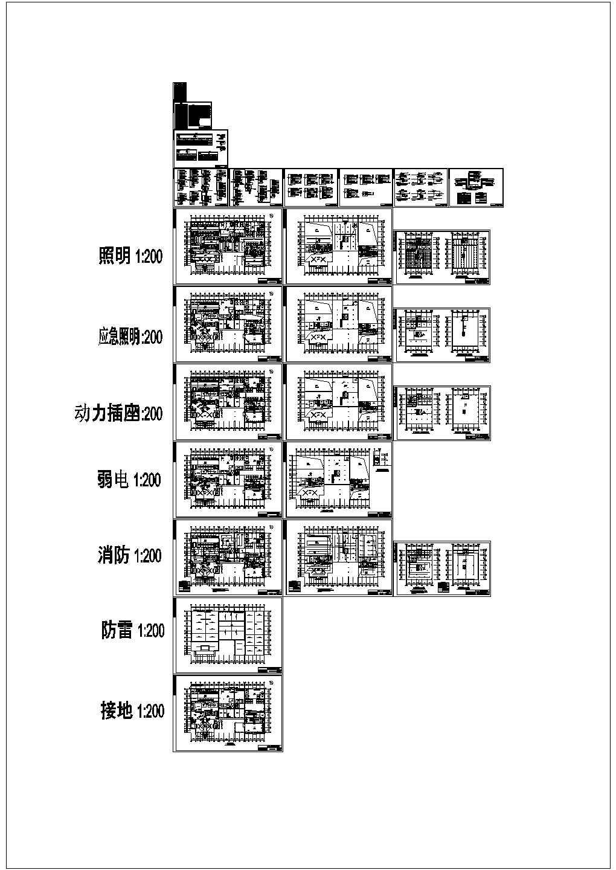 汽车4S店照明设计施工图纸(标注明细)图片1