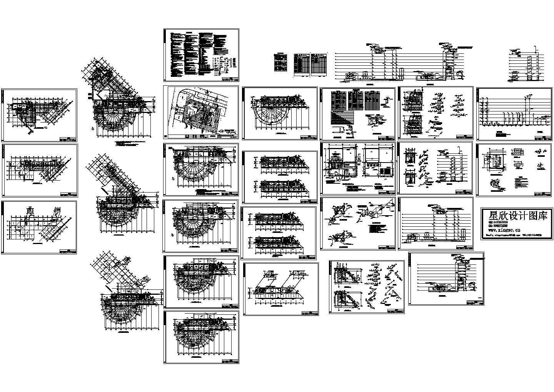 人力中心办公楼给排水设计cad图,含施工说明图片1