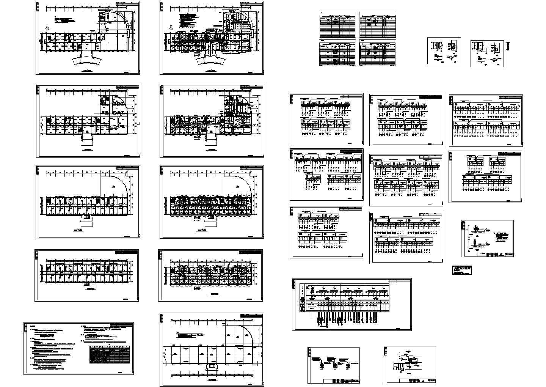 某4339平方米办公楼电气施工图图片1