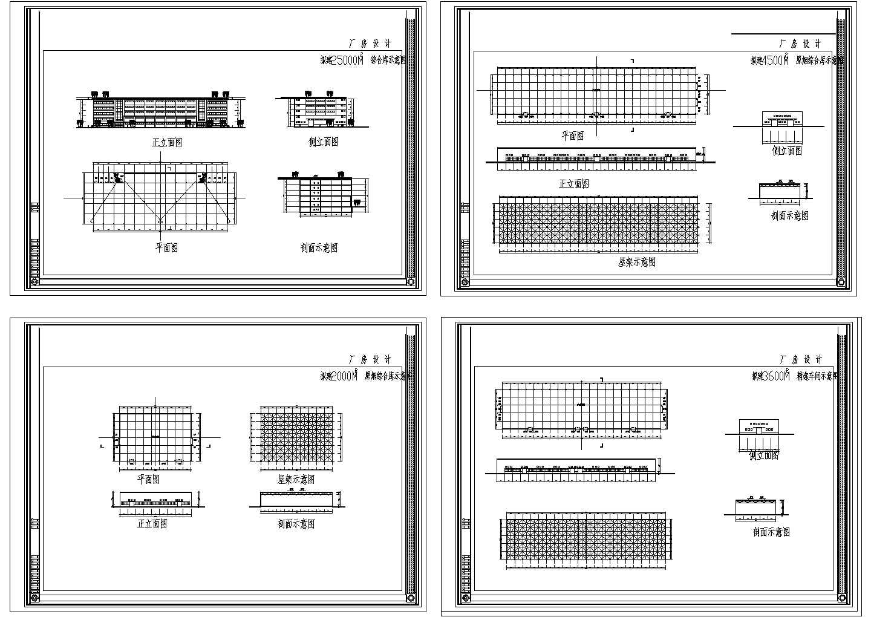 某3600平方米工业厂房建筑设计cad施工图纸(标注详细)图片1