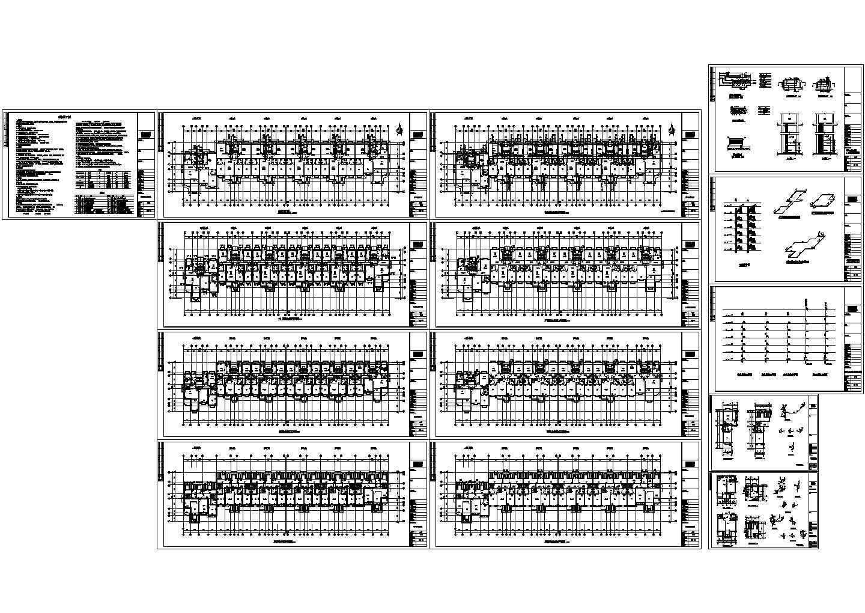 6+1跃层(1梯2-3户6单元)住宅楼水暖设计施工图(含施工说明)图片1