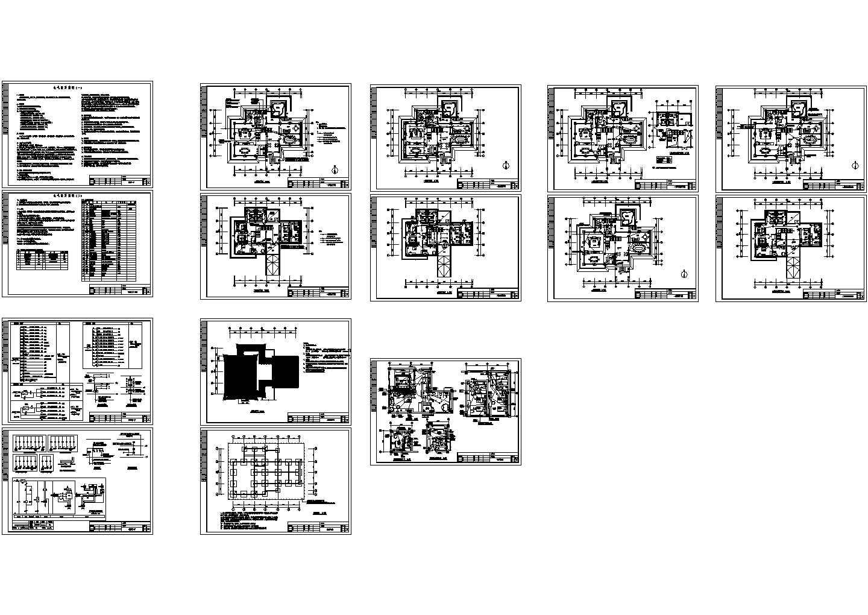 宾馆会所电气设计施工图图片1