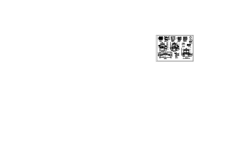 中式古典亭节点大样图图片1