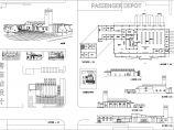 某地区2层客运站建筑设计CAD方案图图片1